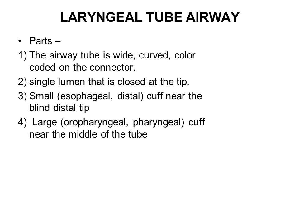 LARYNGEAL TUBE AIRWAY Parts –