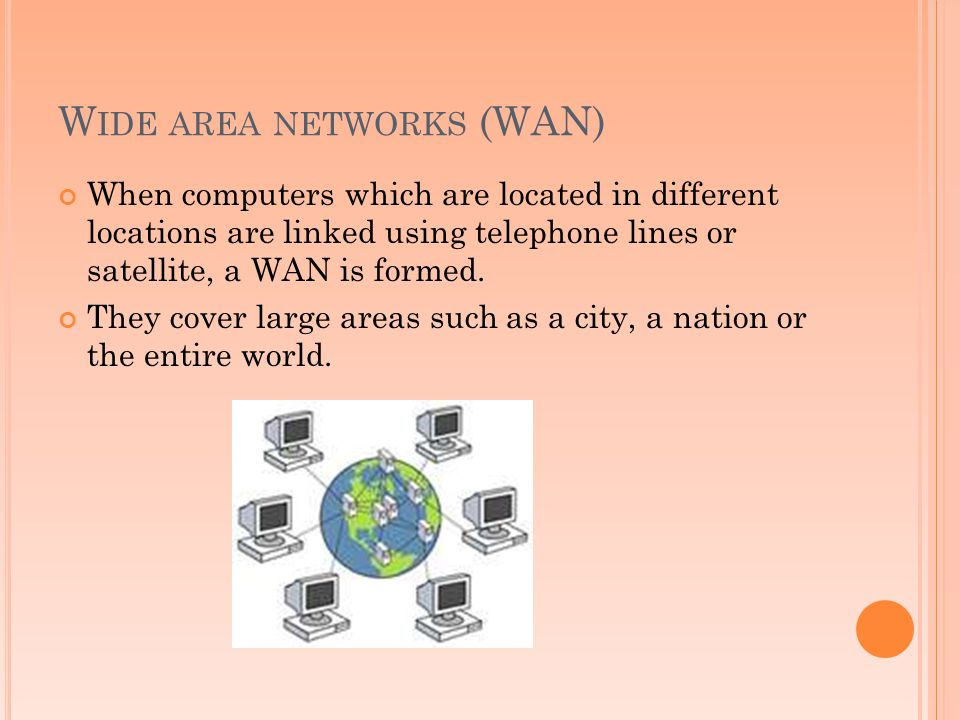 Wide area networks (WAN)