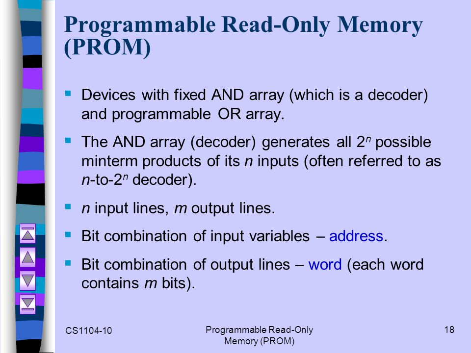 Programmable Read-Only Memory (PROM)
