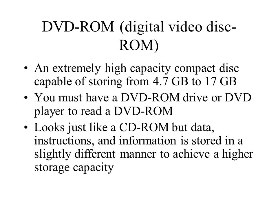 DVD-ROM (digital video disc-ROM)