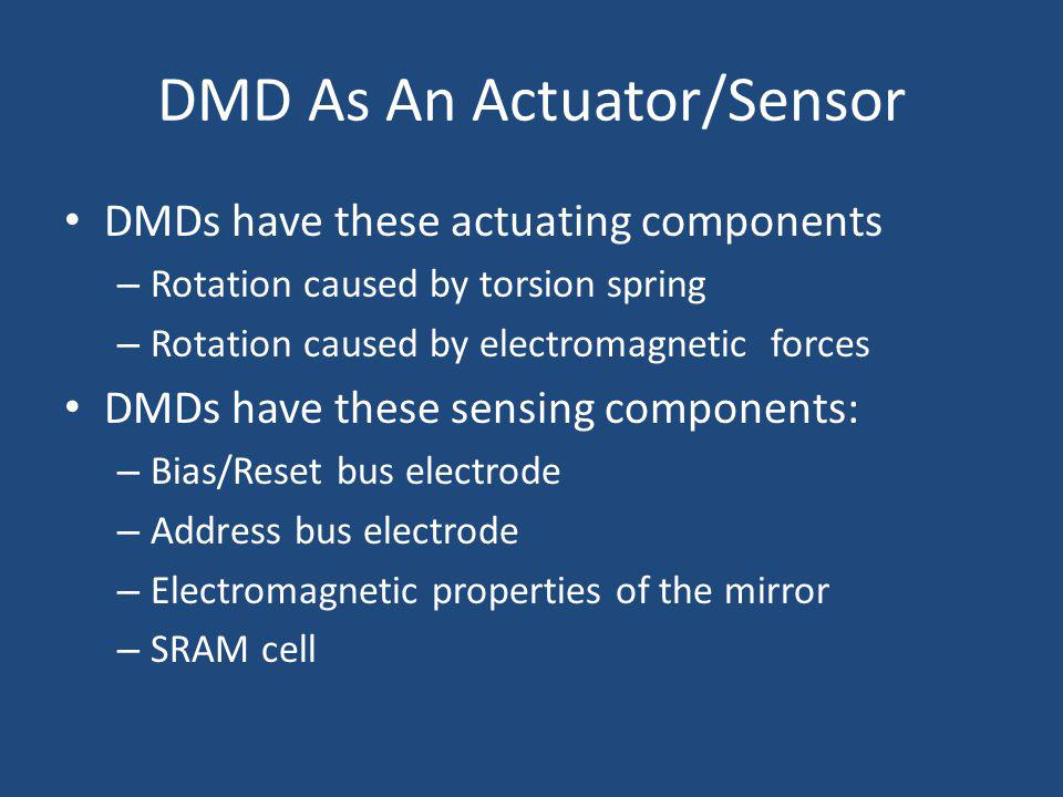 DMD As An Actuator/Sensor