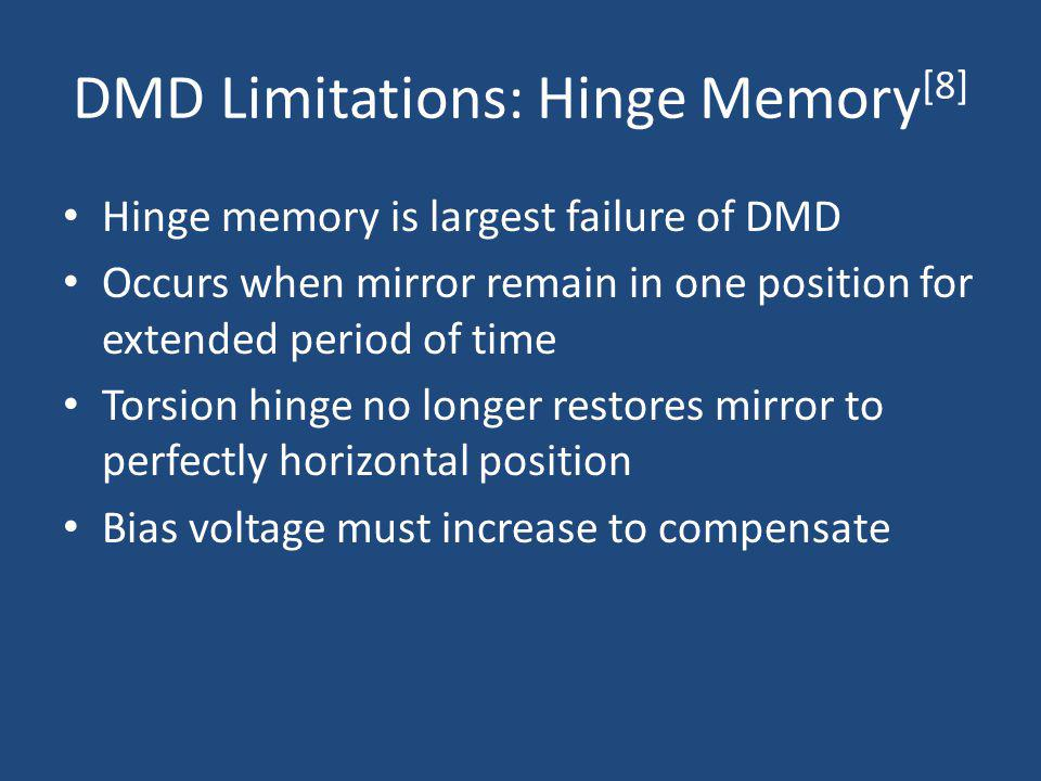 DMD Limitations: Hinge Memory[8]