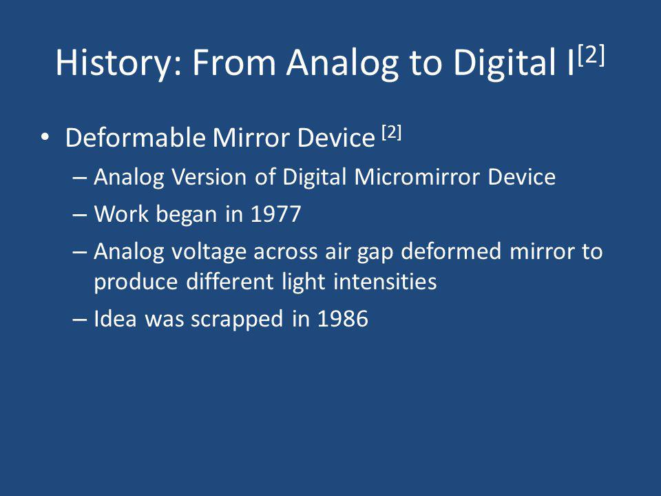 History: From Analog to Digital I[2]