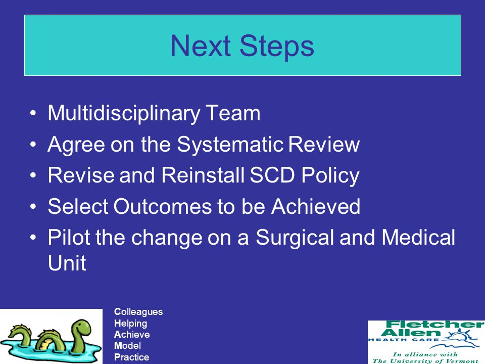 Next Steps Multidisciplinary Team Agree on the Systematic Review