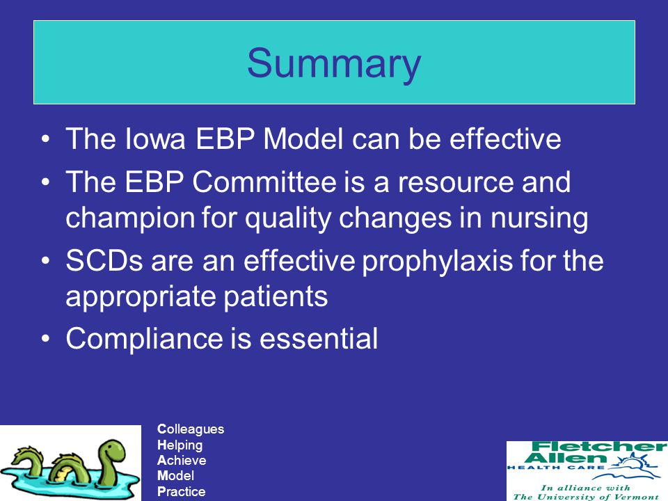 Summary The Iowa EBP Model can be effective