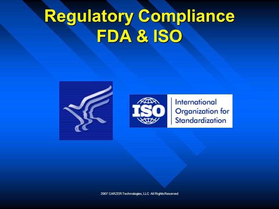Regulatory Compliance FDA & ISO