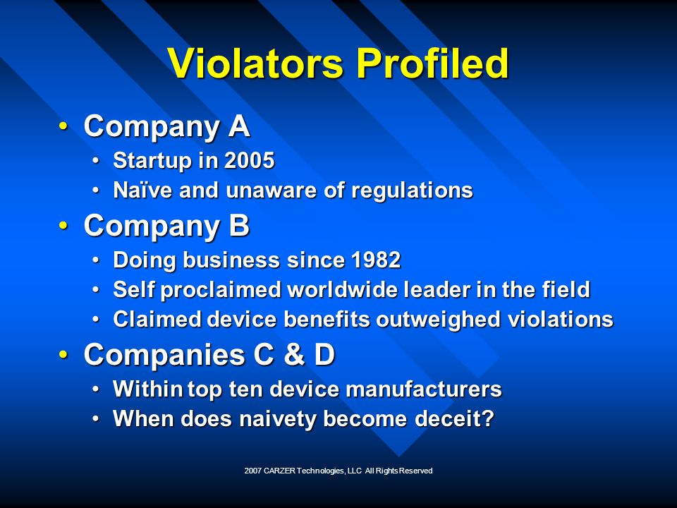 2007 CARZER Technologies, LLC All Rights Reserved