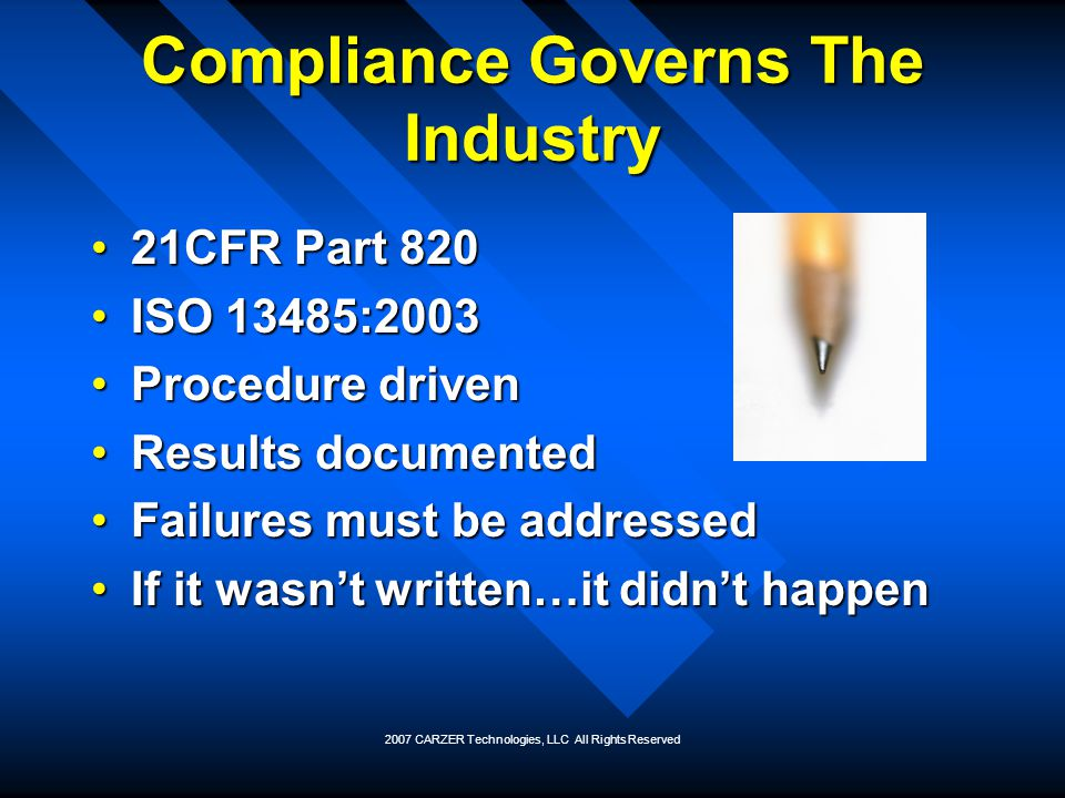 Compliance Governs The Industry