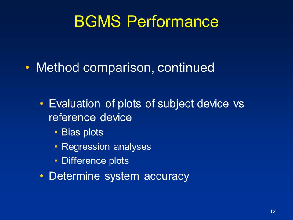 BGMS Performance Method comparison, continued