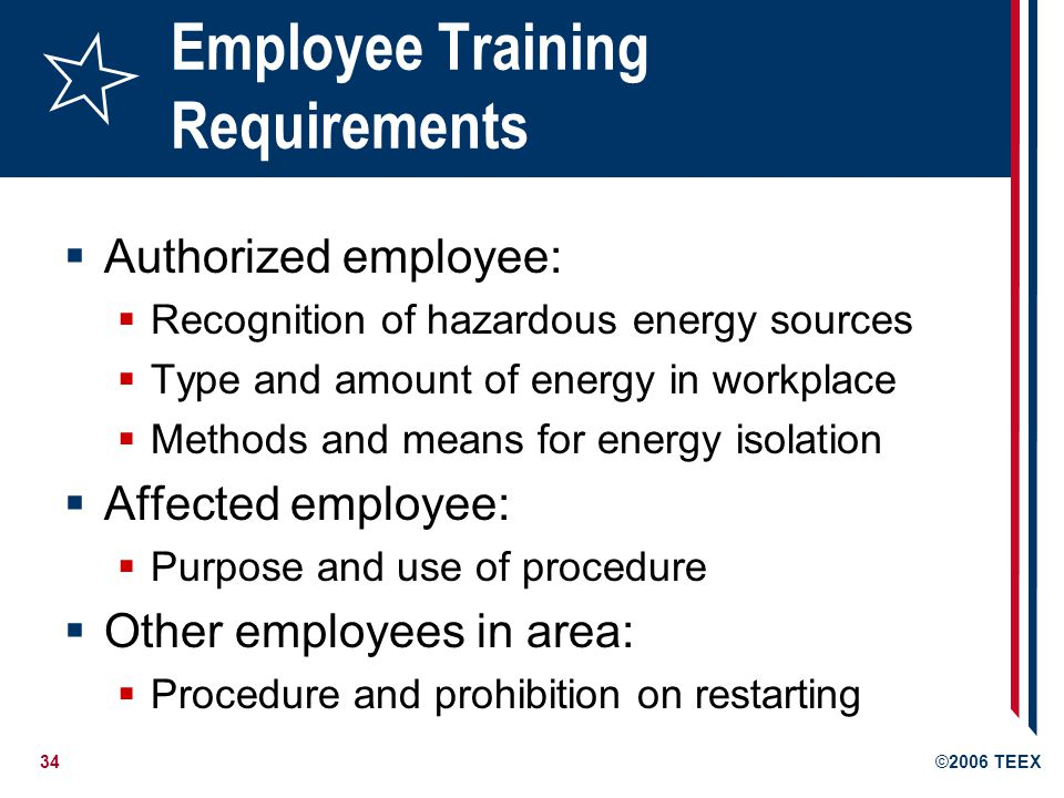 Employee Training Requirements
