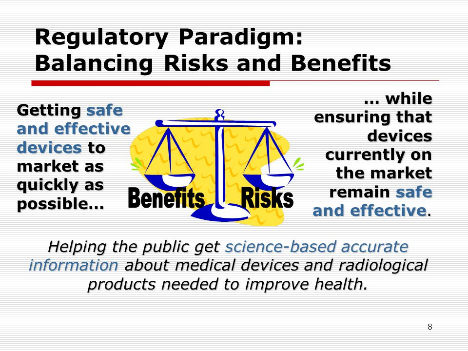 Regulatory Paradigm: Balancing Risks and Benefits