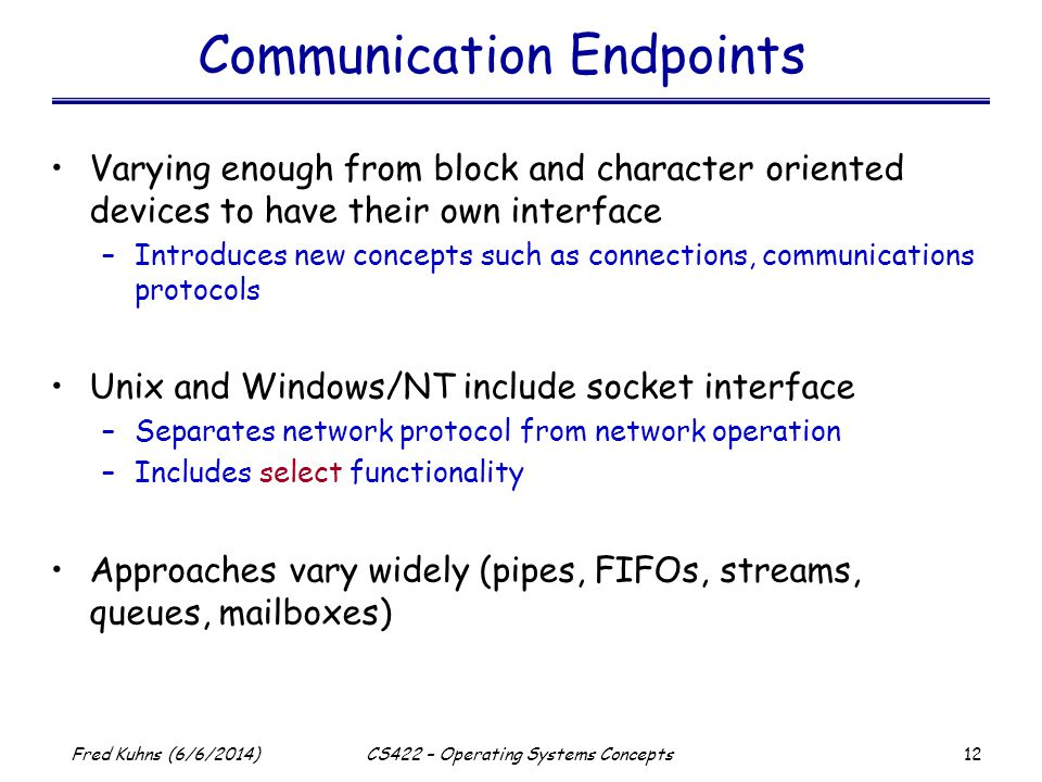 Communication Endpoints