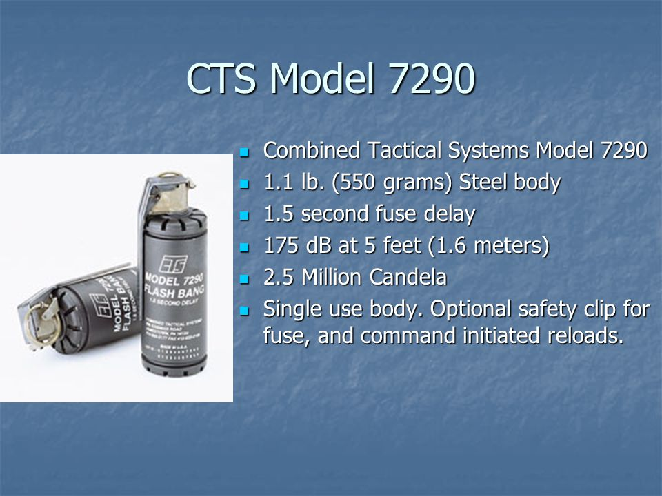 CTS Model 7290 Combined Tactical Systems Model 7290