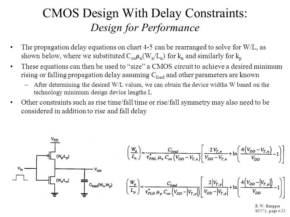 CMOS Design With Delay Constraints: Design for Performance