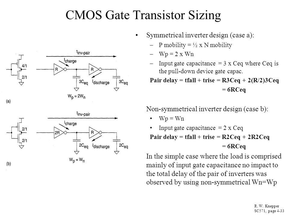 CMOS Gate Transistor Sizing