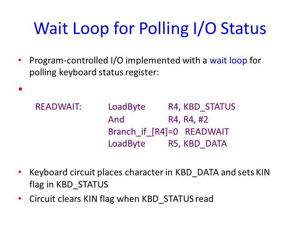 Wait Loop for Polling I/O Status