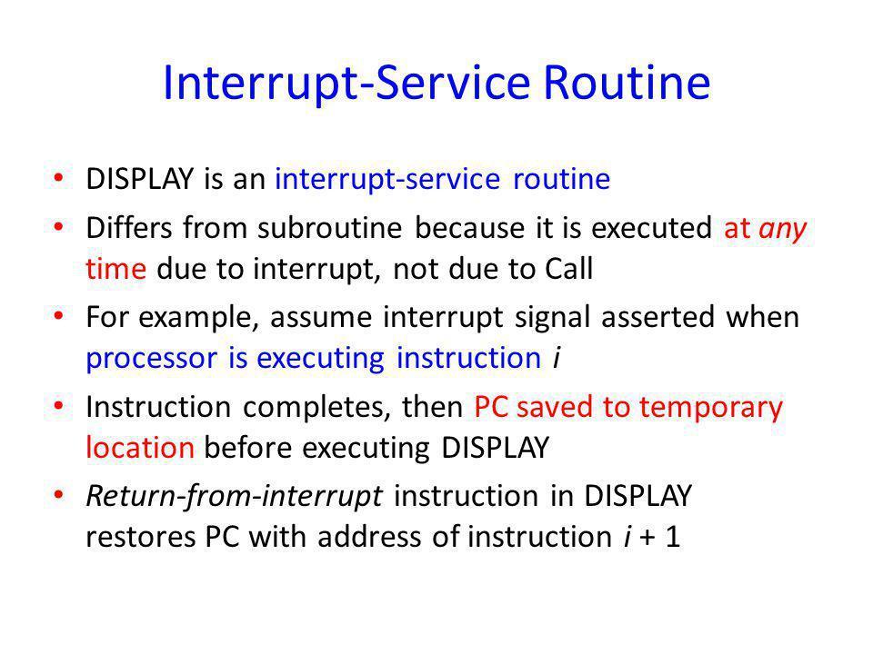 Interrupt-Service Routine
