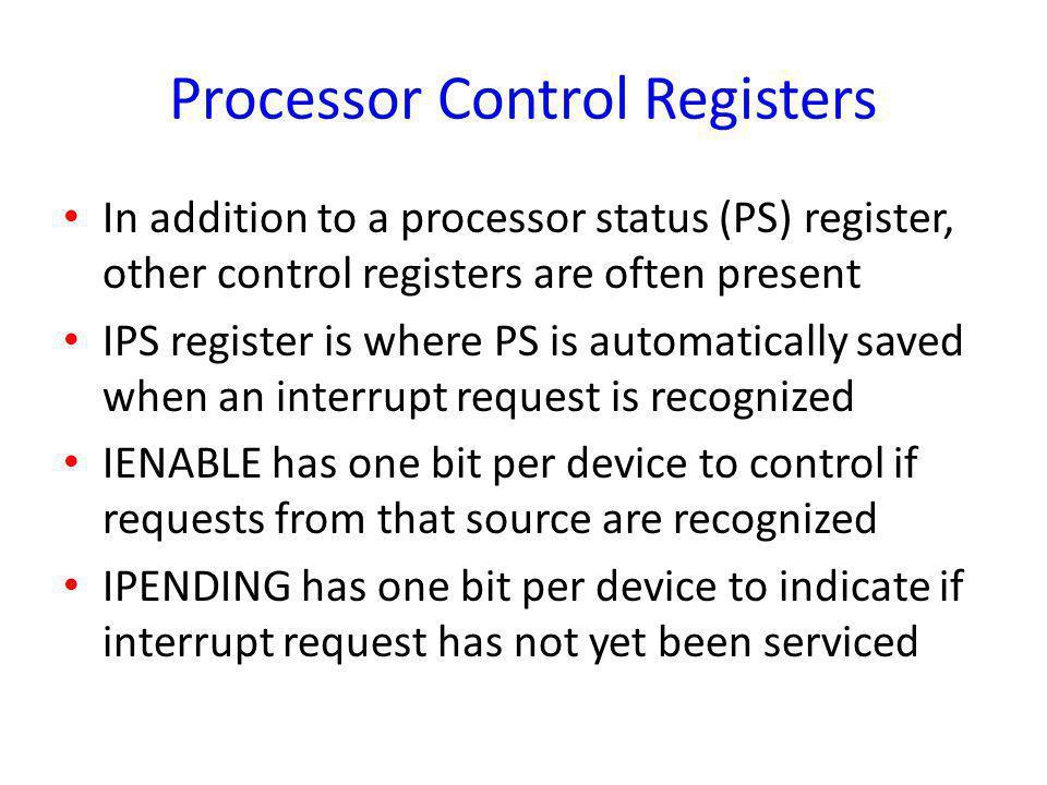 Processor Control Registers