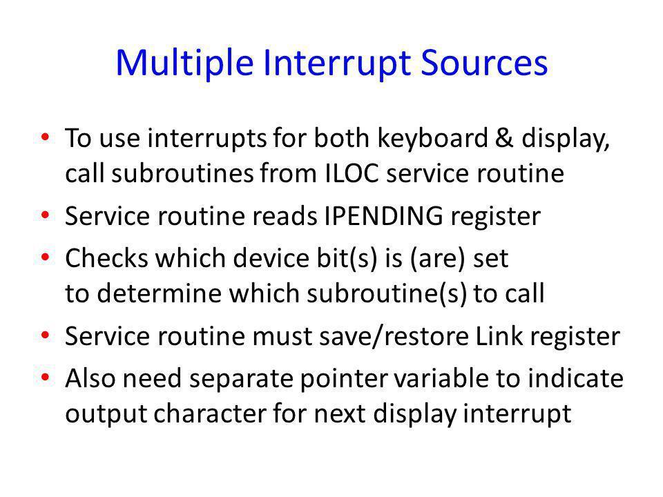 Multiple Interrupt Sources