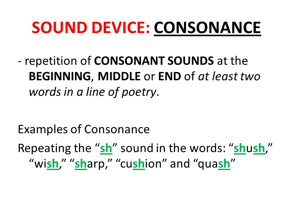 SOUND DEVICE: CONSONANCE