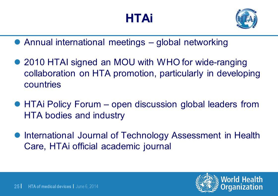 HTAi Annual international meetings – global networking