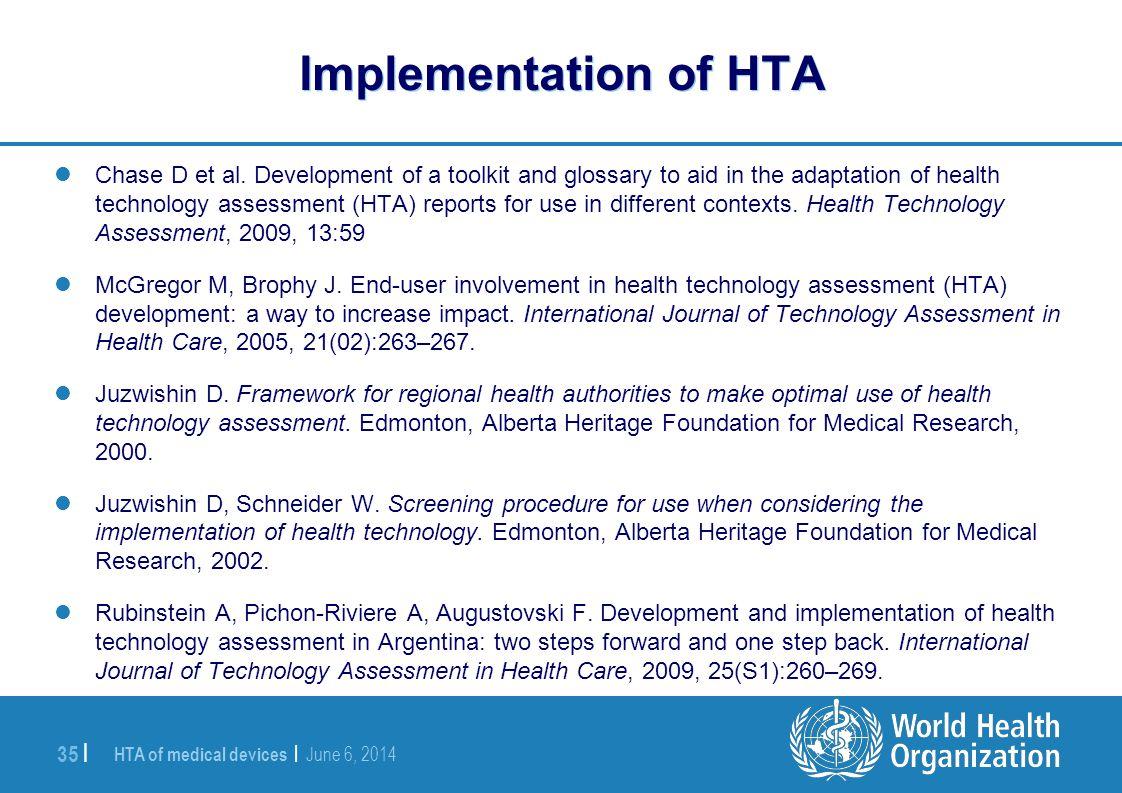 Implementation of HTA