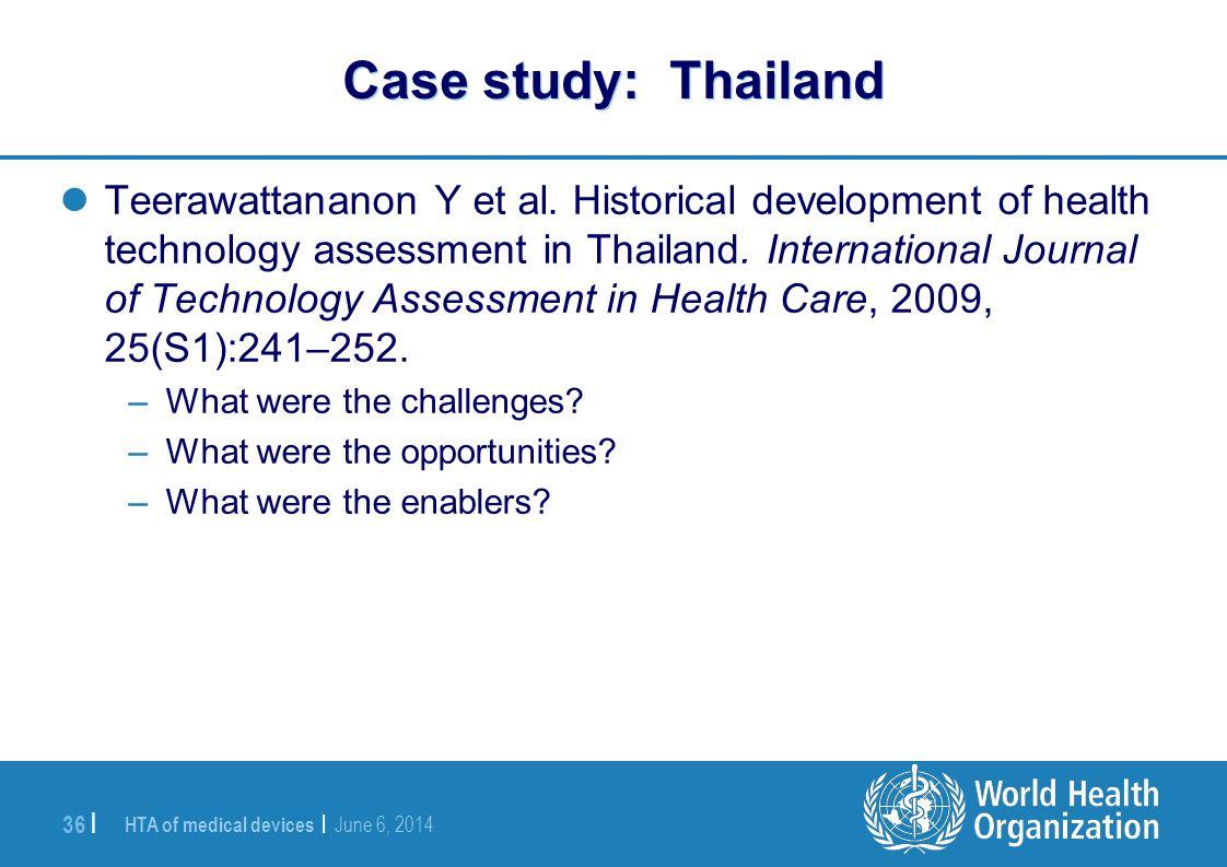 Case study: Thailand