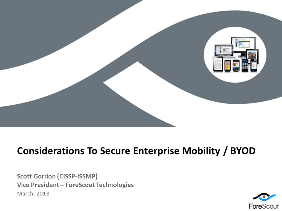 Considerations To Secure Enterprise Mobility / BYOD