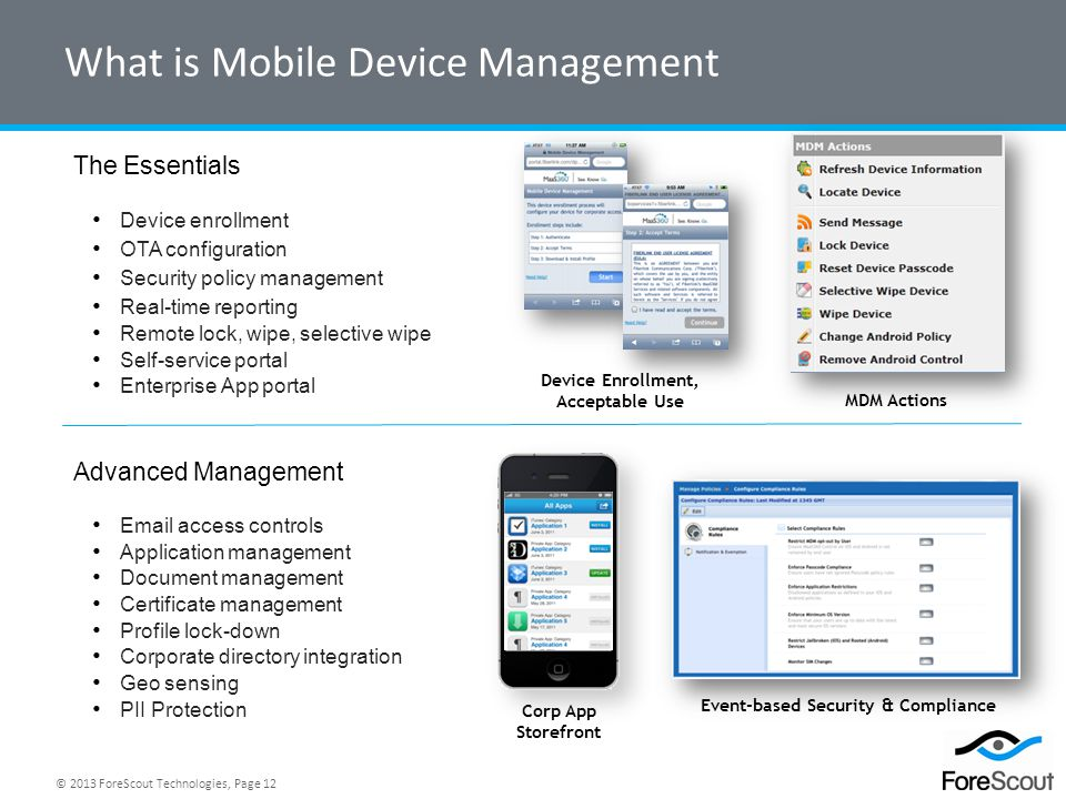 What is Mobile Device Management