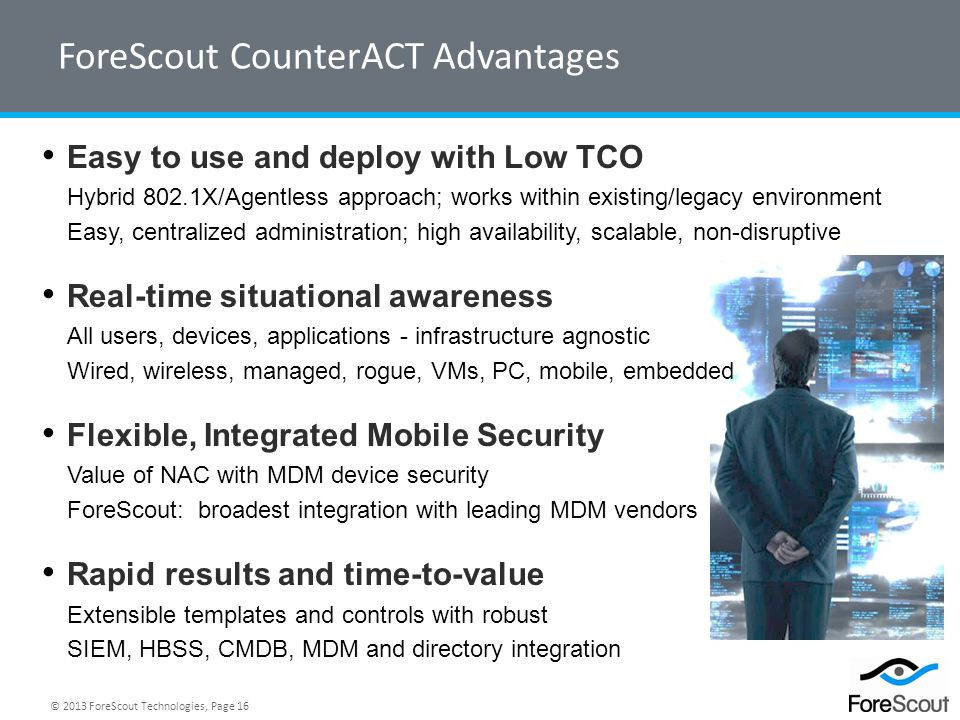 ForeScout CounterACT Advantages