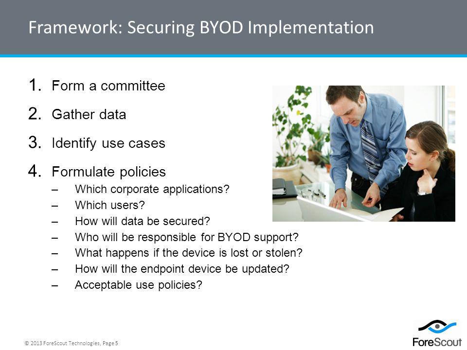 Framework: Securing BYOD Implementation