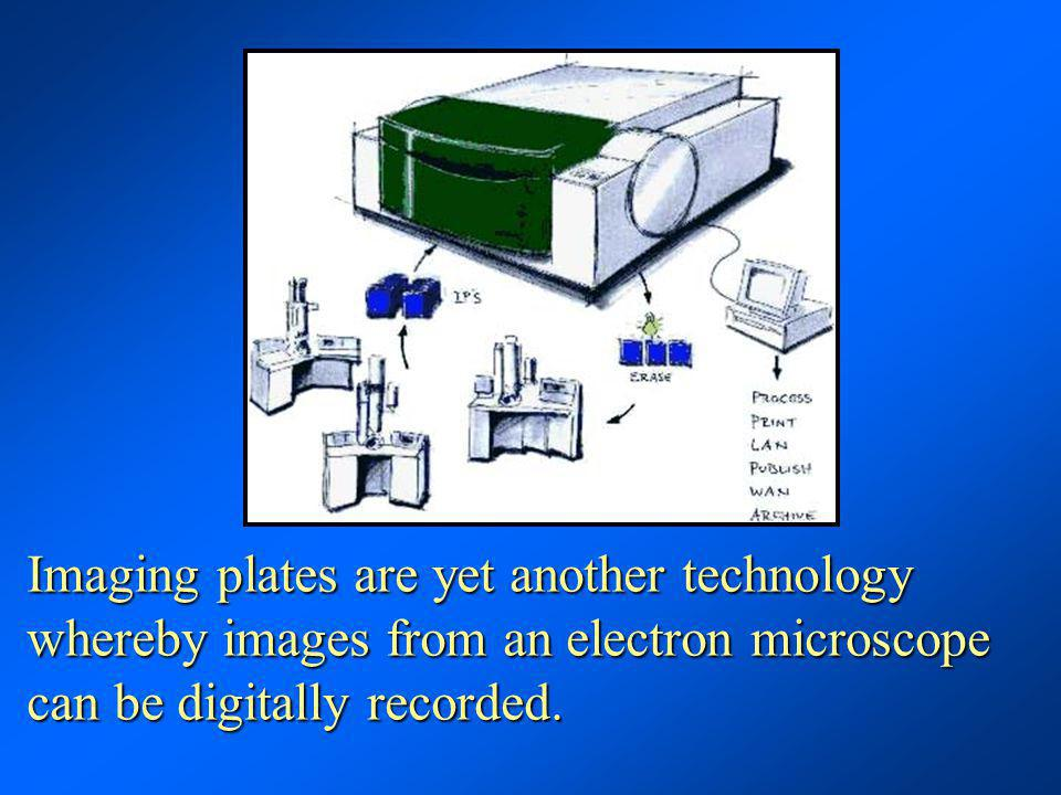 Imaging plates are yet another technology whereby images from an electron microscope can be digitally recorded.