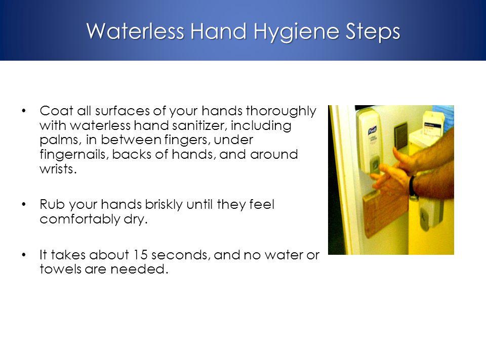Waterless Hand Hygiene Steps