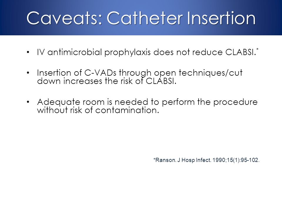 Caveats: Catheter Insertion