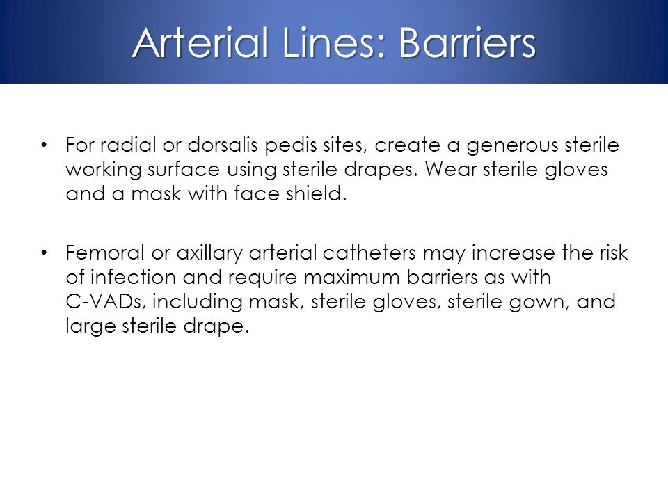 Arterial Lines: Barriers