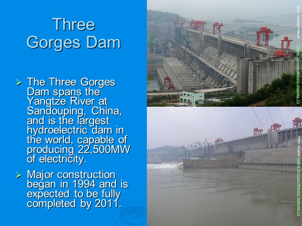 Three Gorges Dam Photo: Christoph FlinkoBl Creative Commons Attribution ShareAlike 3.0.