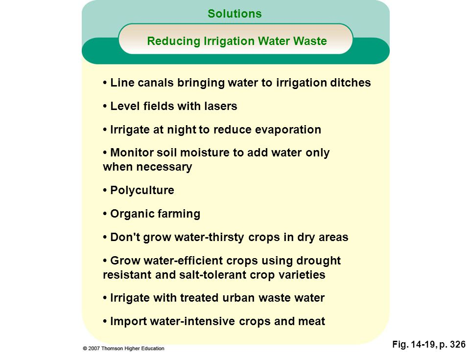 Reducing Irrigation Water Waste