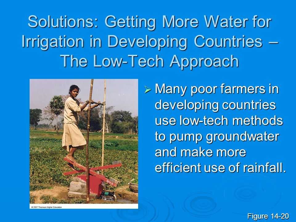 Solutions: Getting More Water for Irrigation in Developing Countries – The Low-Tech Approach