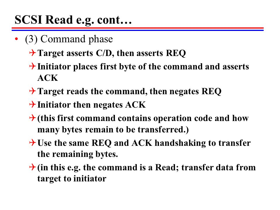 SCSI Read e.g. cont… (3) Command phase