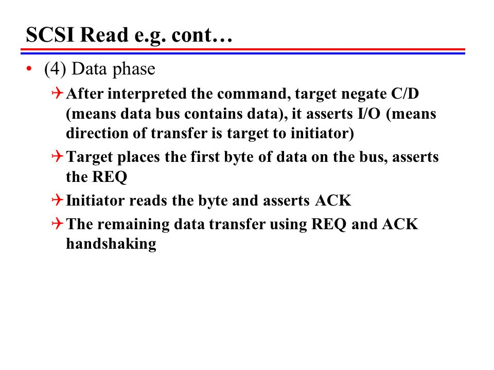 SCSI Read e.g. cont… (4) Data phase