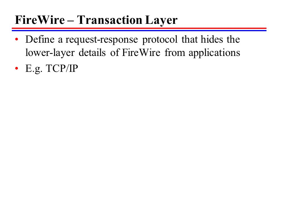FireWire – Transaction Layer