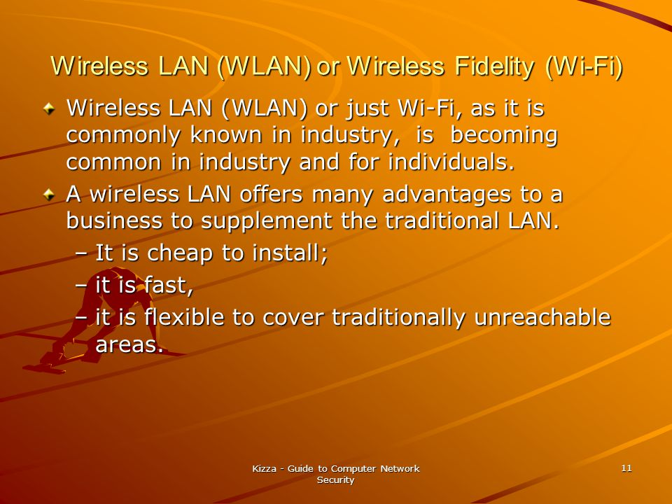Wireless LAN (WLAN) or Wireless Fidelity (Wi-Fi)