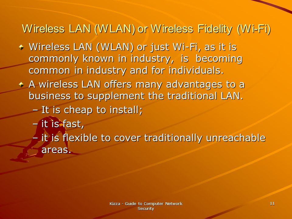 Wireless LAN (WLAN) or Wireless Fidelity (Wi-Fi)