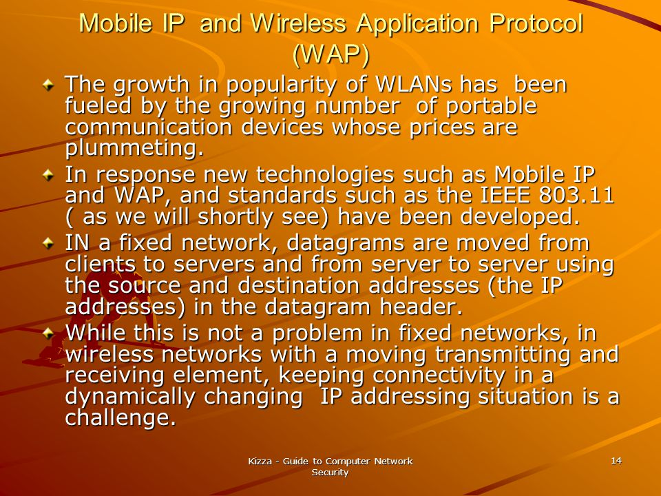 Mobile IP and Wireless Application Protocol (WAP)
