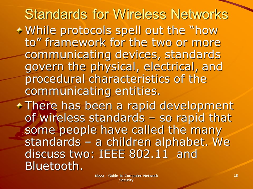 Standards for Wireless Networks