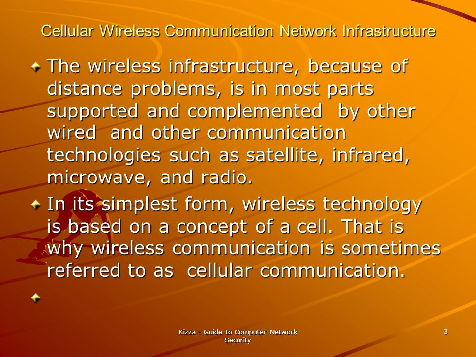 Cellular Wireless Communication Network Infrastructure