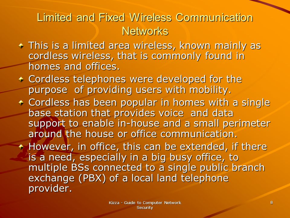 Limited and Fixed Wireless Communication Networks