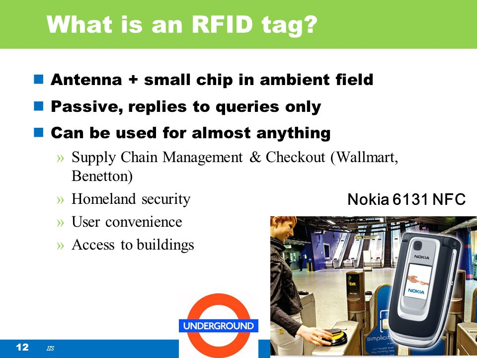 What is an RFID tag Antenna + small chip in ambient field