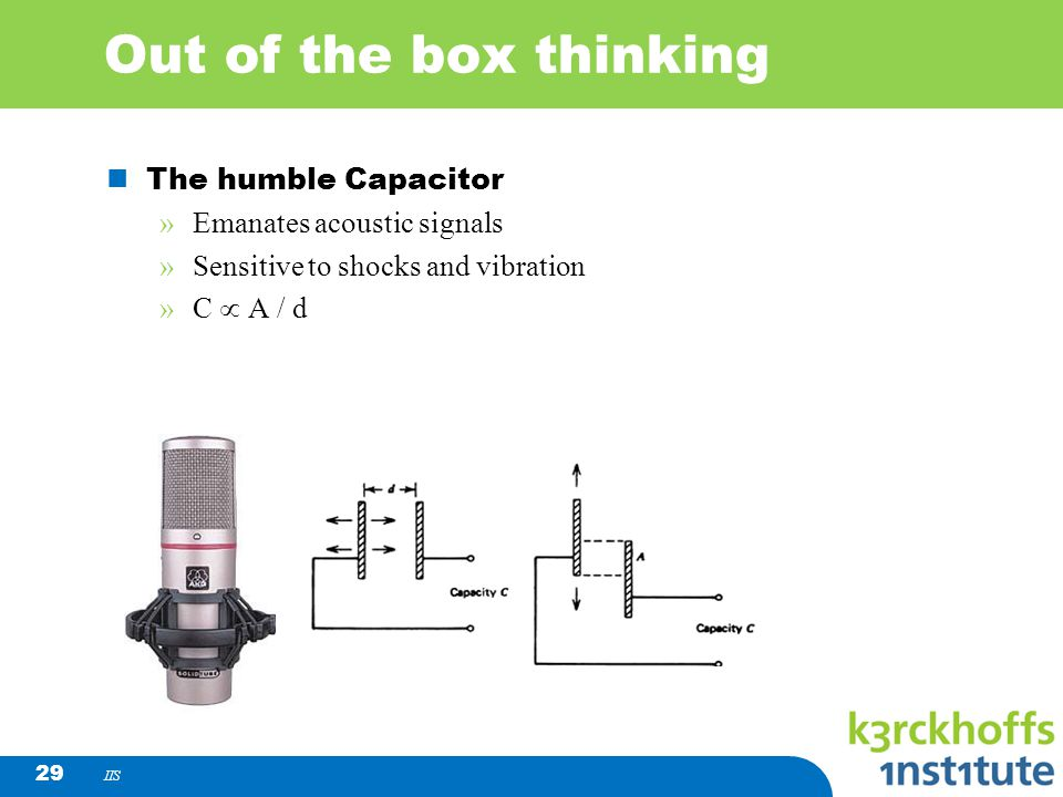 Out of the box thinking The humble Capacitor Emanates acoustic signals