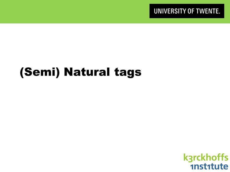 (Semi) Natural tags